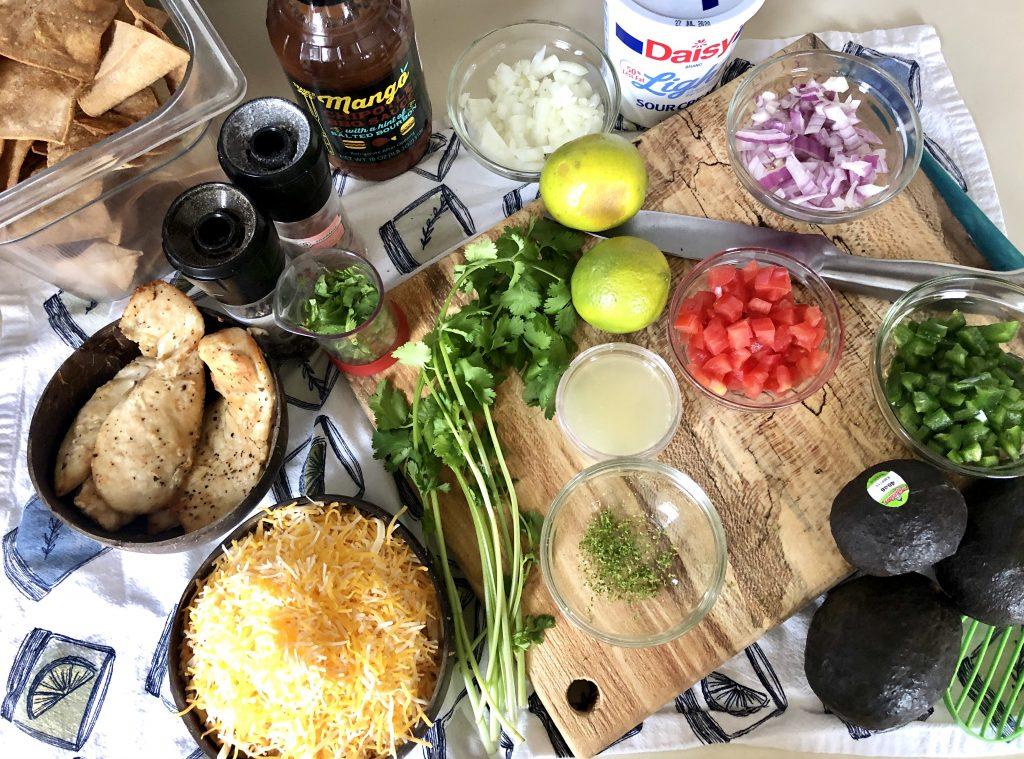 BBQ Chicken Nachos Ingredients