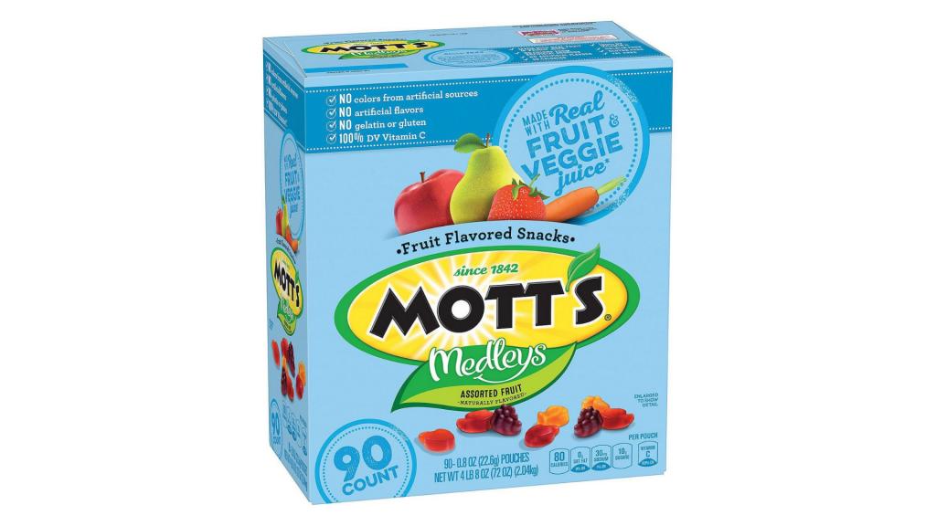 Mott's Medleys Fruit Snacks gluten-free snacks