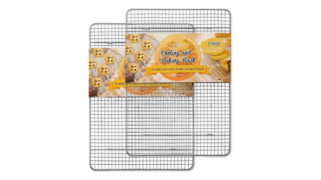 Hiware 2-Pack Cooling Racks for Baking - Stainless Steel Wire Cookie Rack