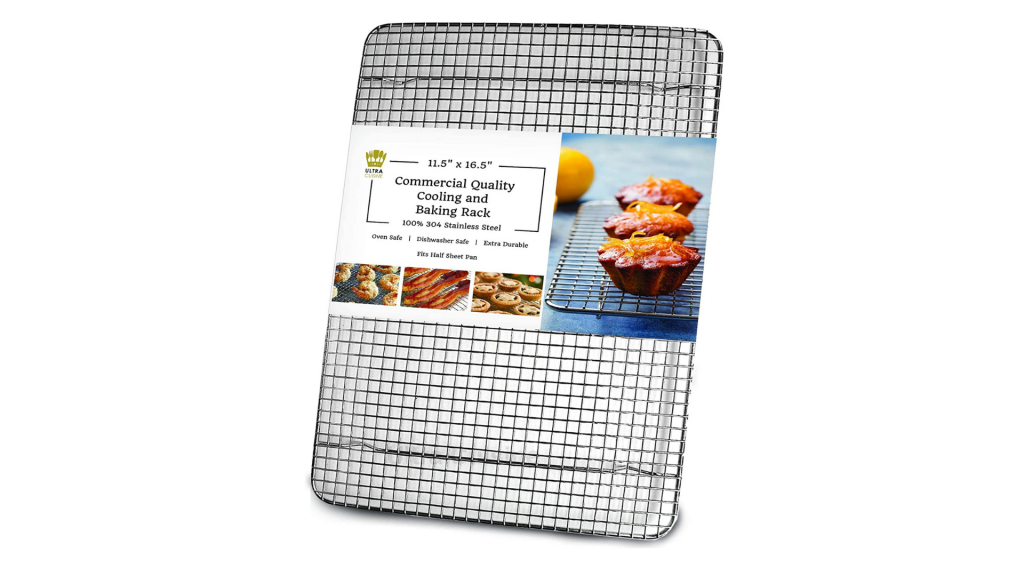 Ultra Cuisine 100% Stainless Steel Wire Cooling Rack for Baking - Heavy Duty Commercial Quality